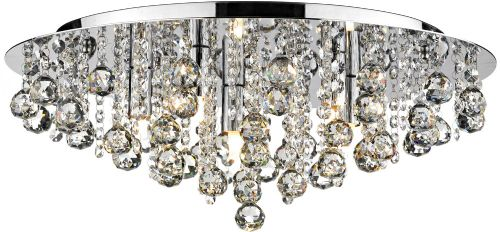 Pluto 8-light Polished Chrome Flush Ceiling Light PLU0850